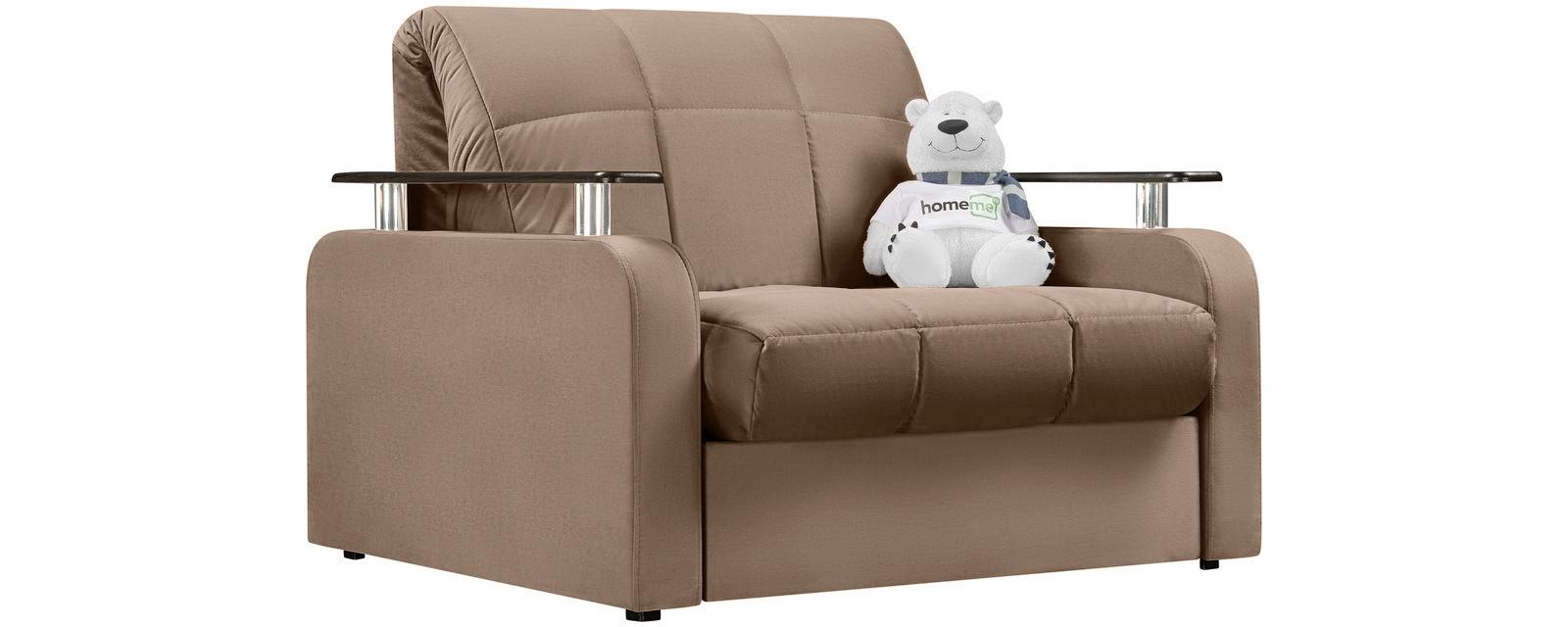 Кресло тканевое Денвер Velure коричневый (Велюр) фото