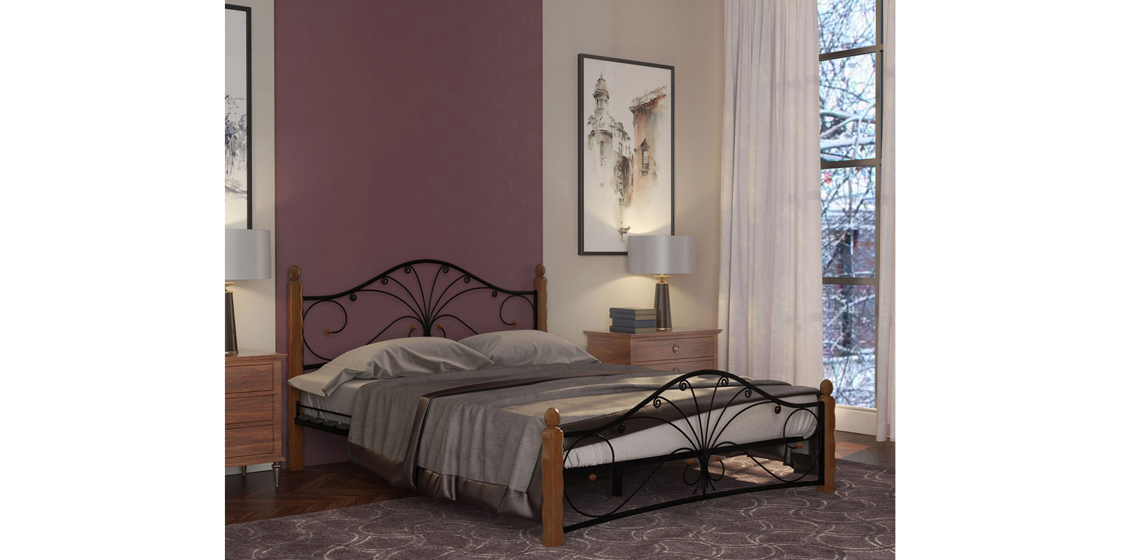 Кованые кровати AFR0652000