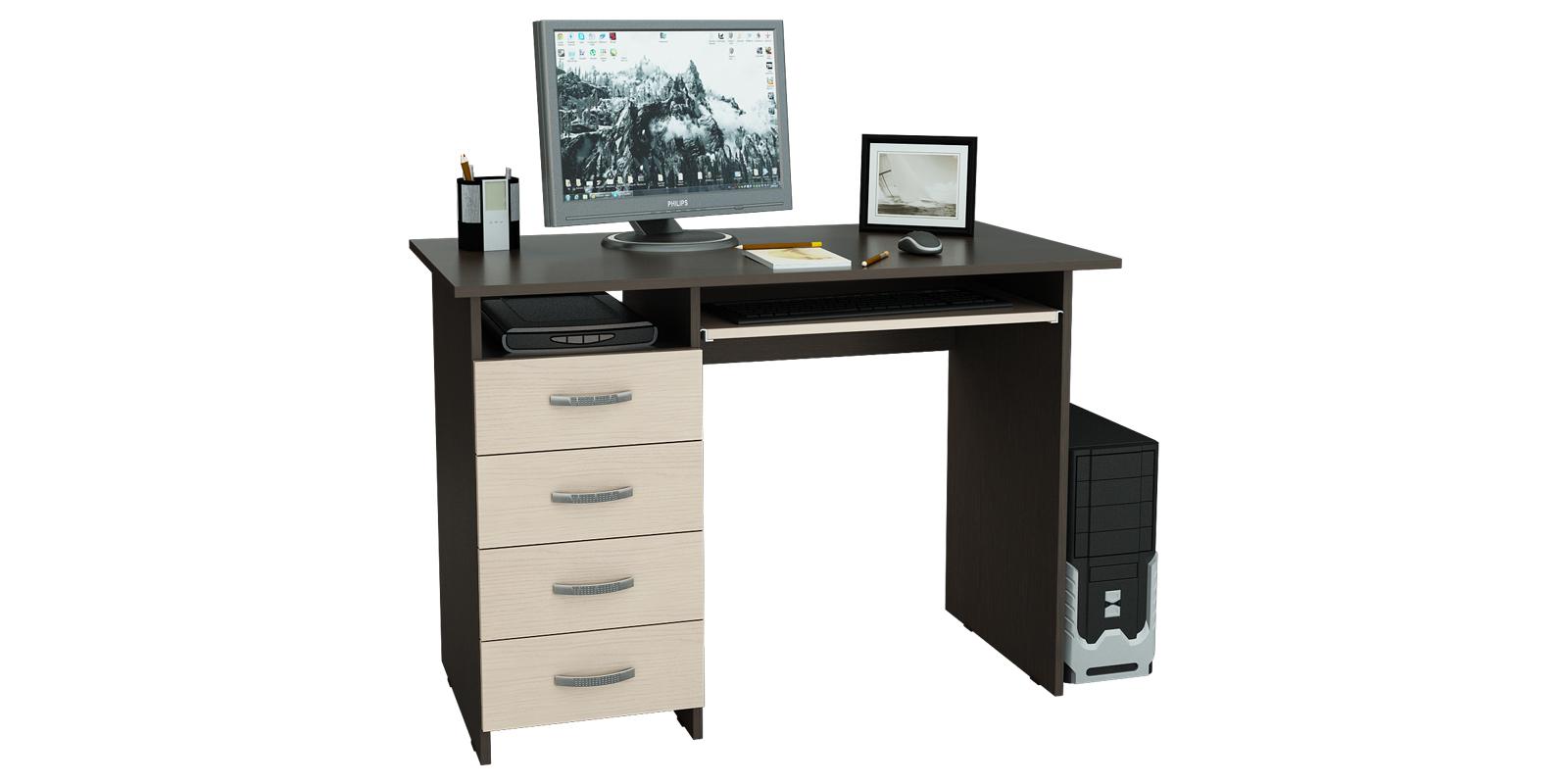 Стол компьютерный Харви (венге/дуб молочный)