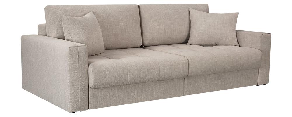 Модульный диван Брайтон вариант №1 Nobilia бежевый (Рогожка)