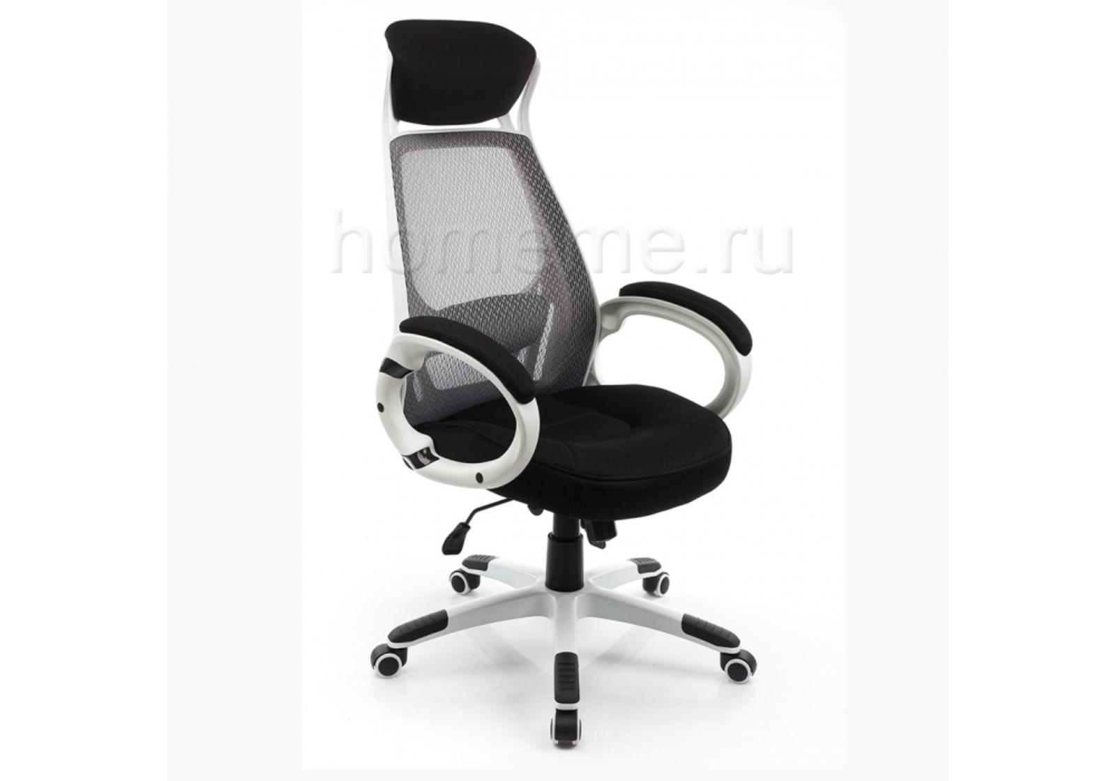 Кресло для офиса HomeMe Burgos белое 1714 от Homeme.ru
