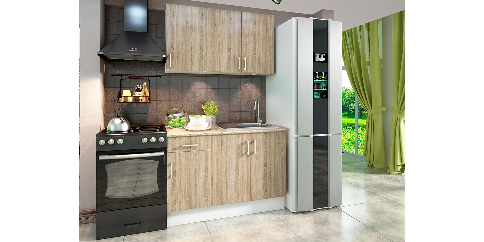 Модульная кухня Женева (белый/дуб сонома) от HomeMe.ru