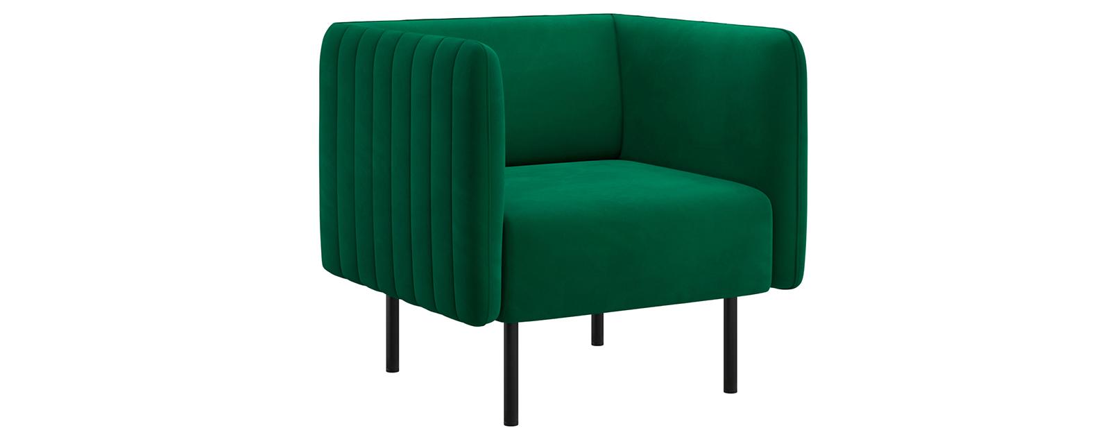 Кресло тканевое Рио Velutto тёмно-зелёный (Велюр)