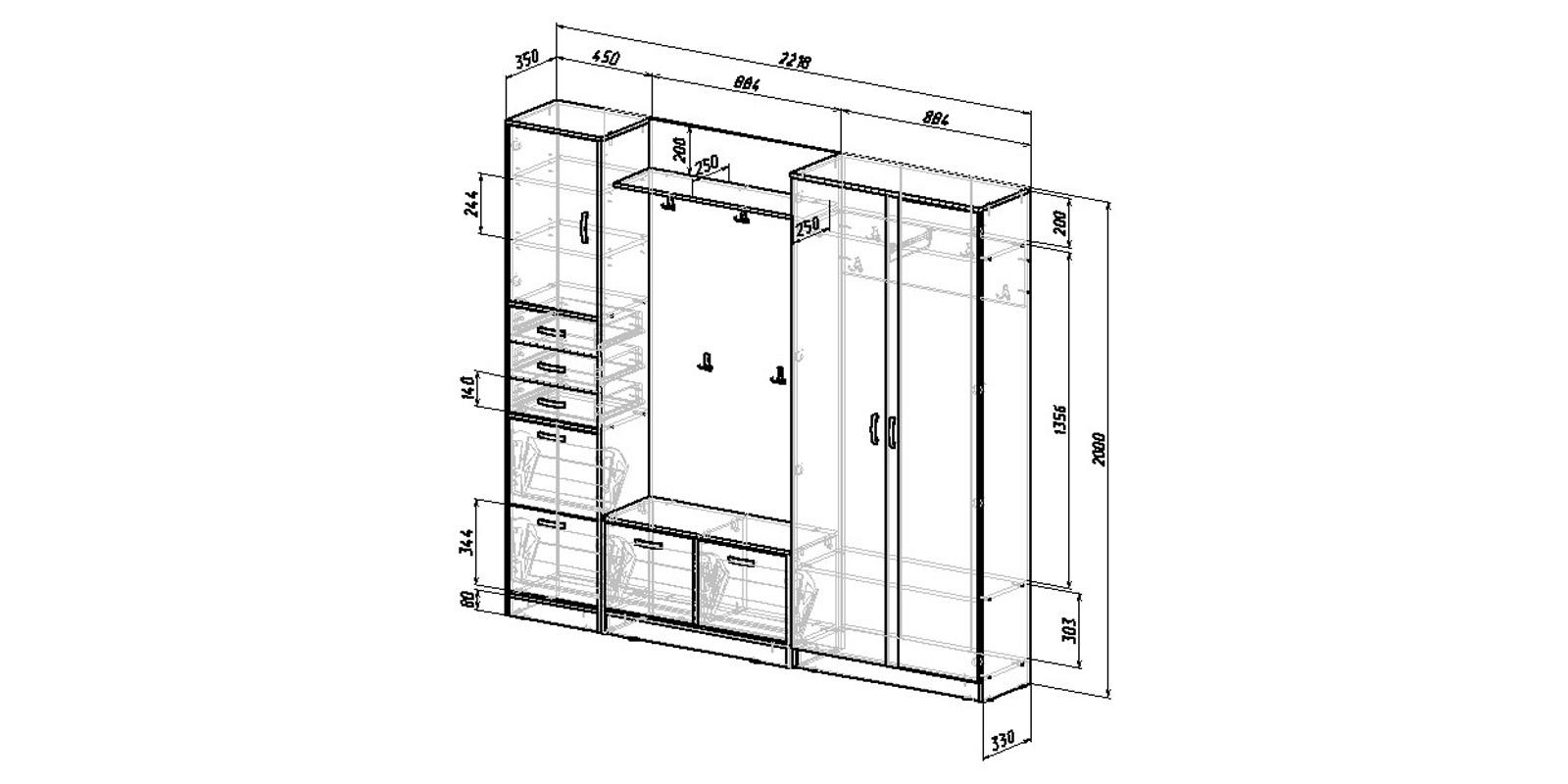 Модульная система Хельга вариант №7 (венге)