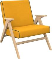 Кресло для отдыха Вест Натуральное дерево, ткань Fancy 48, кант Fancy 37