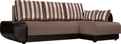 Stripe коричневый (Ткань + Экокожа)