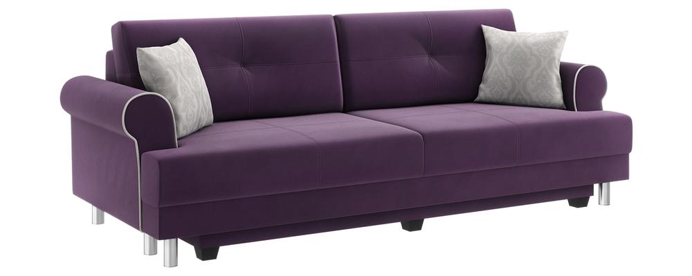Диван тканевый прямой Мирта Velutto фиолетовый (Велюр)