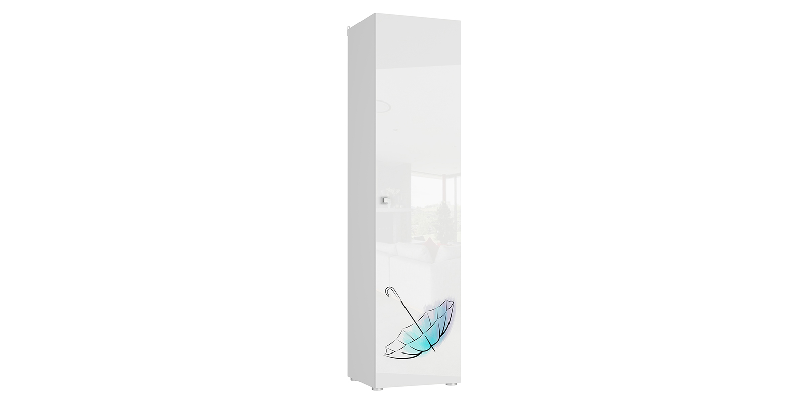 Шкаф распашной однодверный Мелисса вариант №1 (белый)