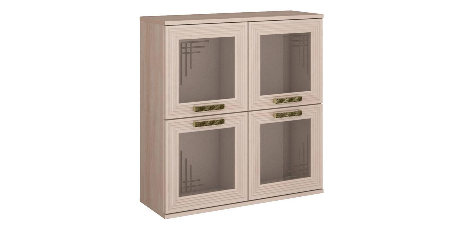 Шкаф витрина Триполи вариант №3 (ясень светлый)