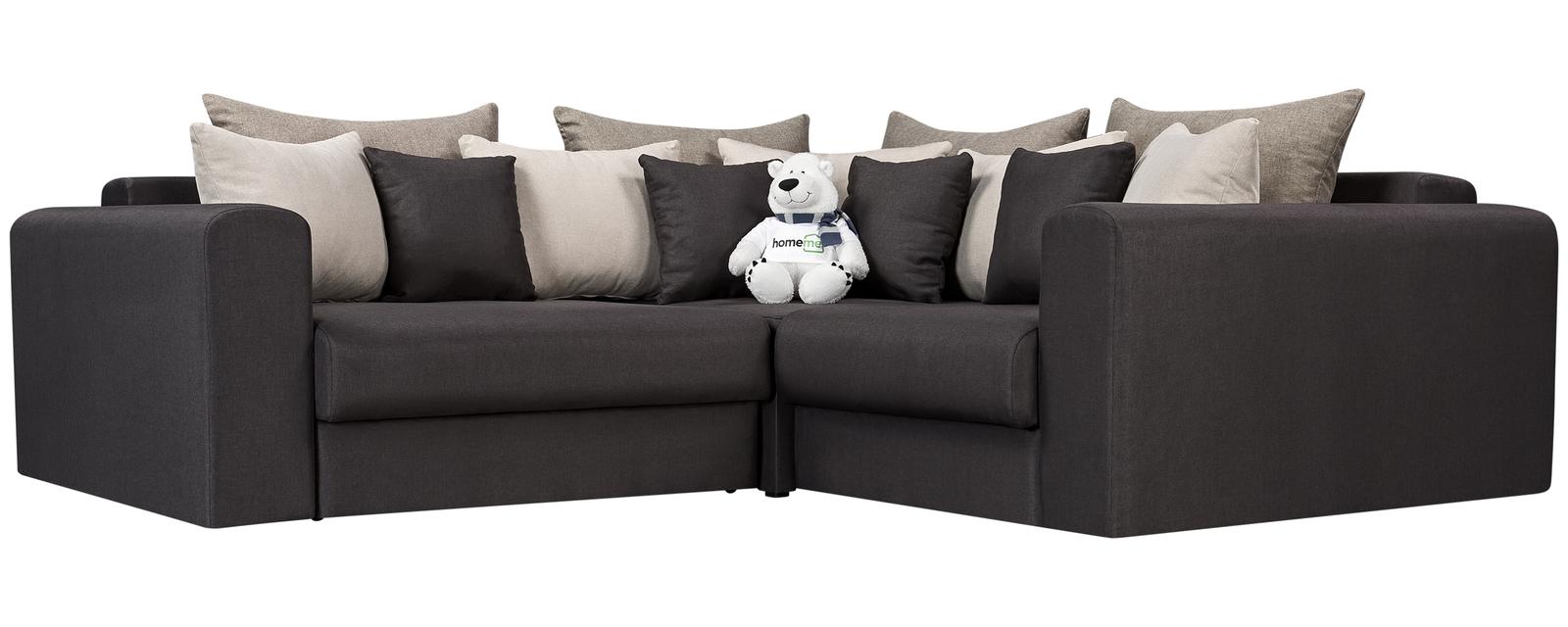 Модульный диван Медисон Вариант №3 Kiton тёмно-серый (Рогожка)
