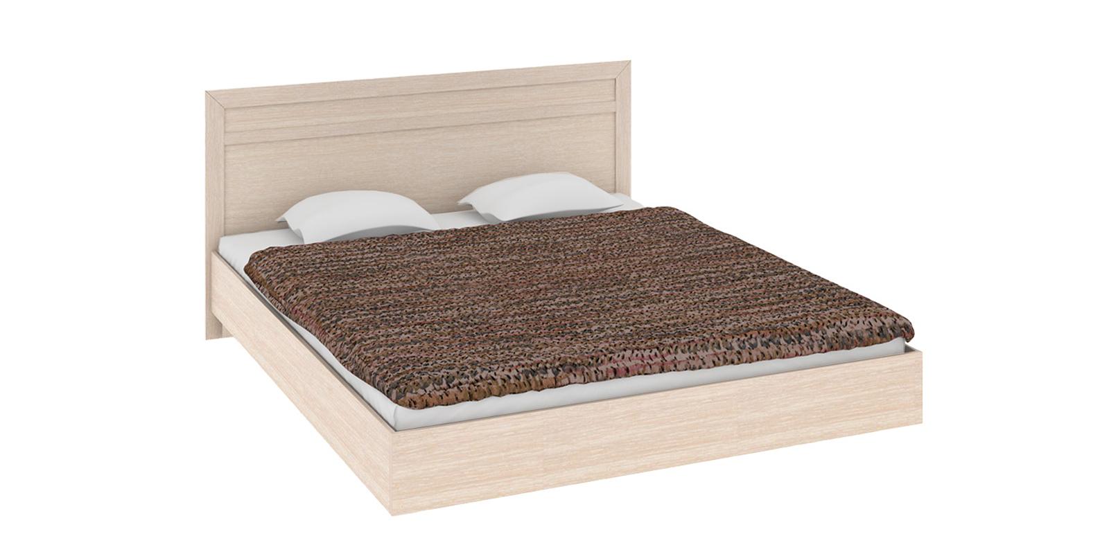 Кровать каркасная Дельта с ортопедическим основанием (дуб белфорт) от HomeMe.ru