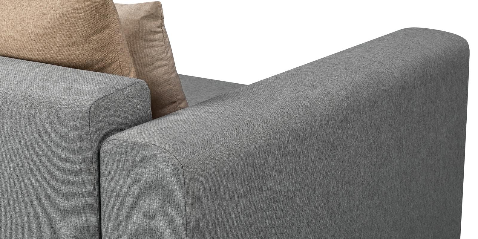 Кресло тканевое Медисон 100 см Falcone серый (Рогожка) от HomeMe.ru