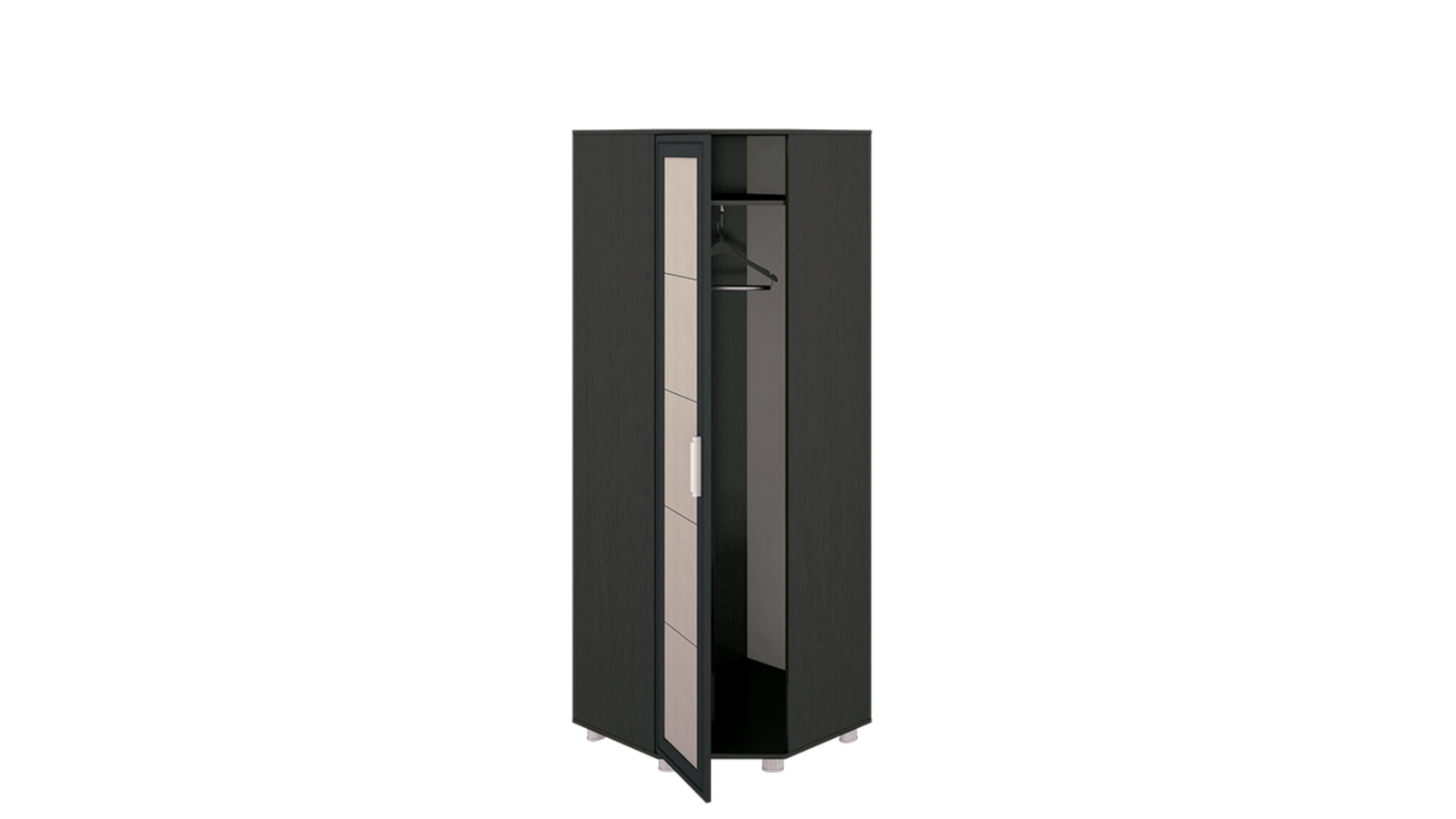 Шкаф распашной угловой Лестер вариант №1 (коричневый/бежевый) от HomeMe.ru