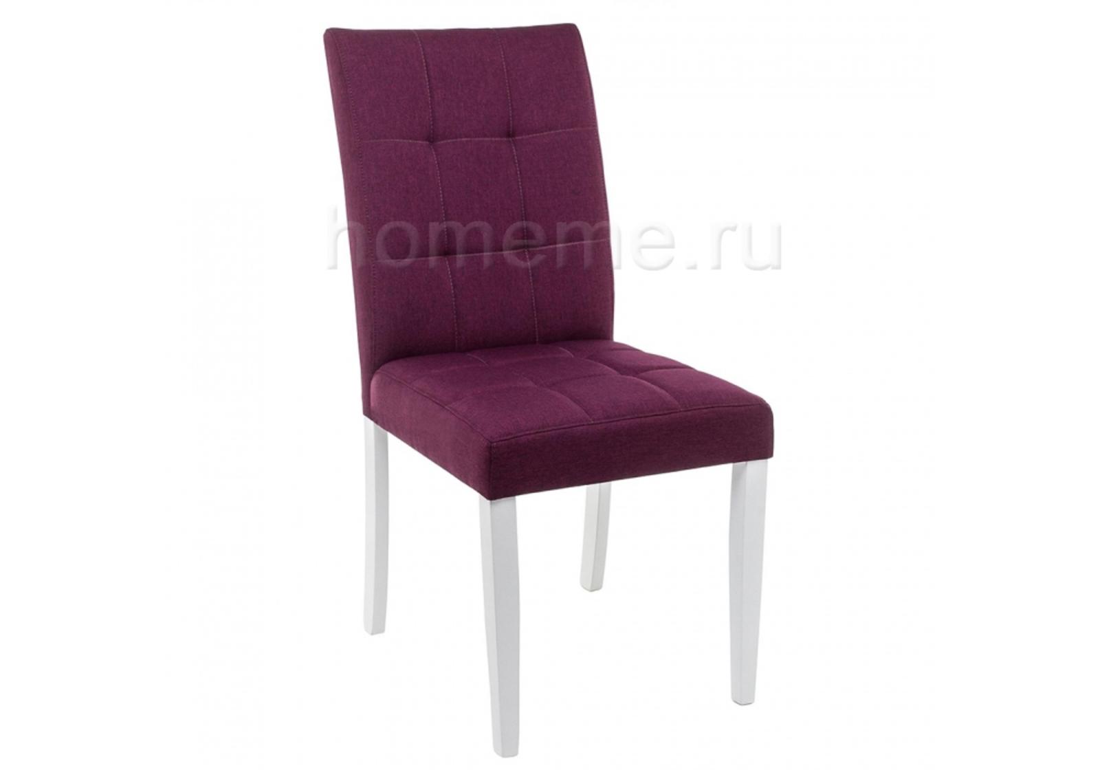 Стул HomeMe Madina white / fabric purple 11032 от Homeme.ru