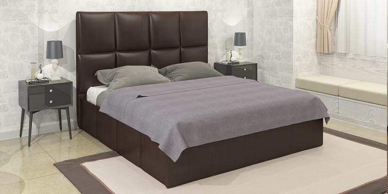 Мягкая кровать 200х160 Сицилия с подъемным механизмом (Шоколад)