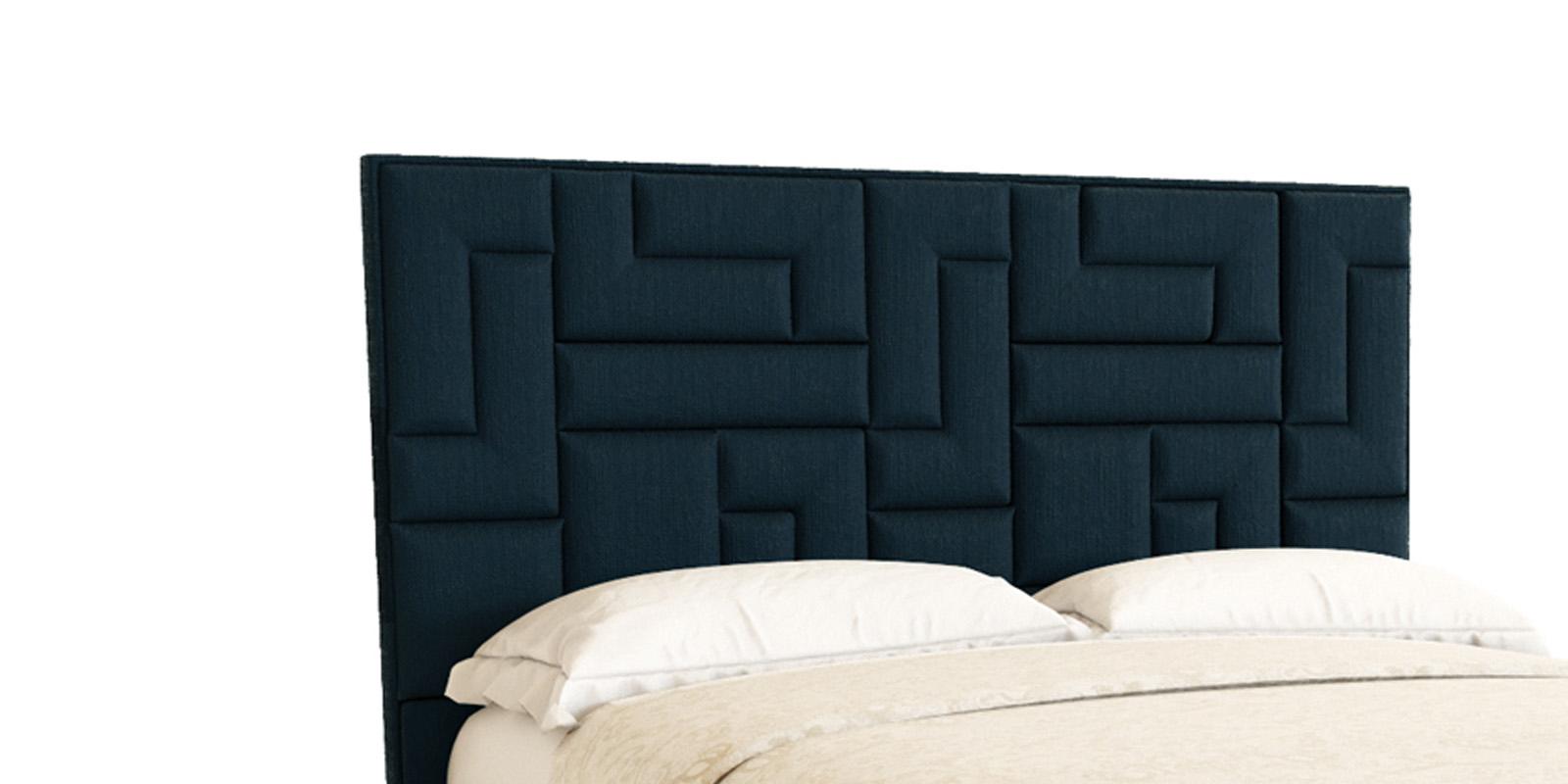 Мягкая кровать 200х160 Логика с подъемным механизмом (темно-синий)