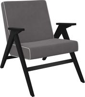 Кресло для отдыха Вест Венге, ткань Verona Antrazite Grey, кант Verona Light Grey