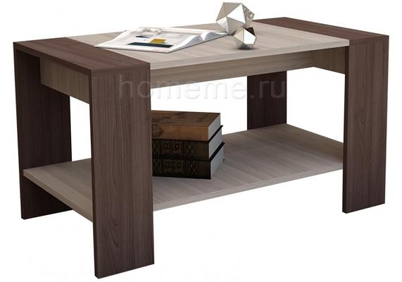 Журнальный стол  Квадро ясень шимо темный / ясень шимо светлый 294561 (15848)