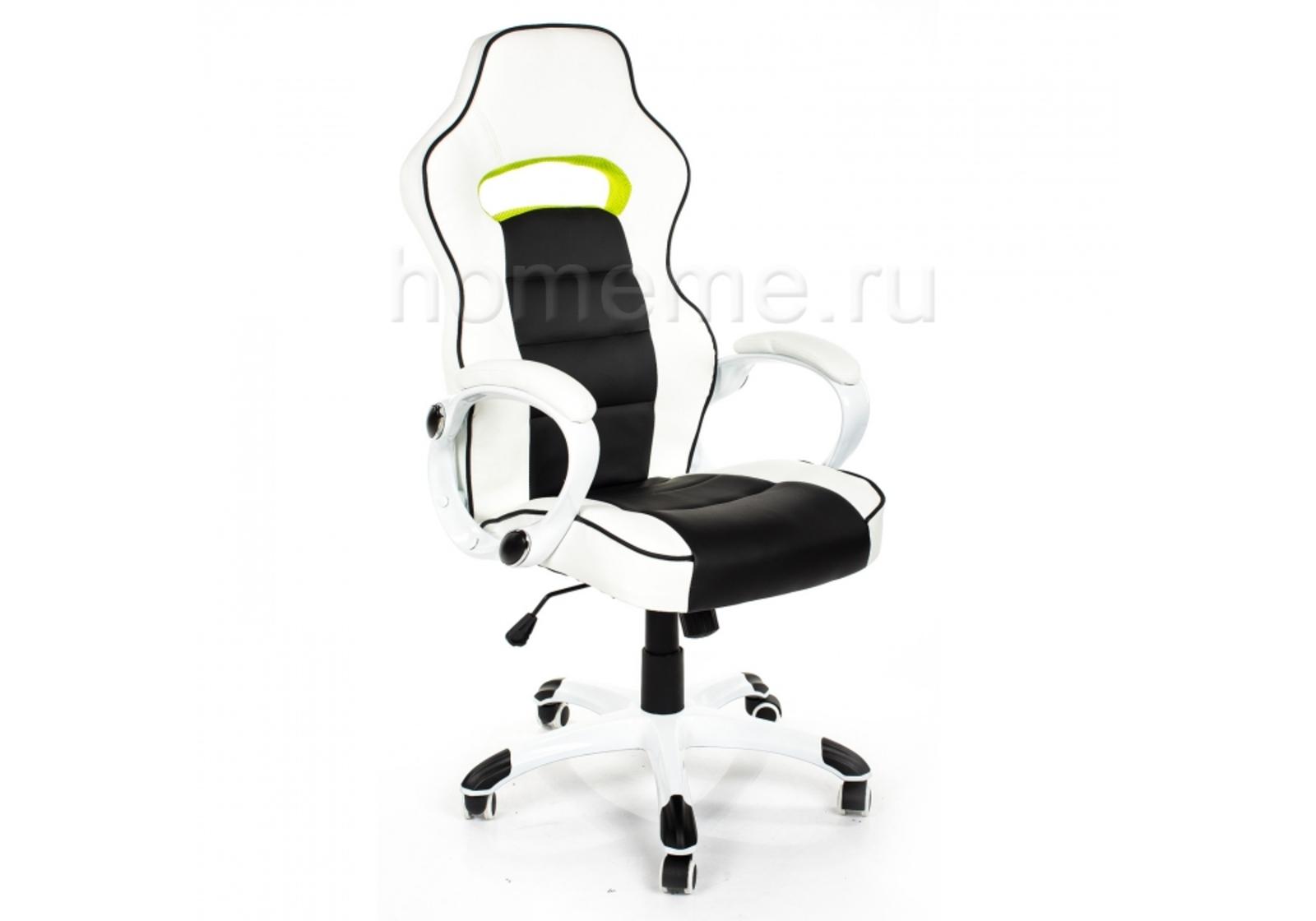 Кресло для офиса HomeMe Lider черно-белое 1494 от Homeme.ru