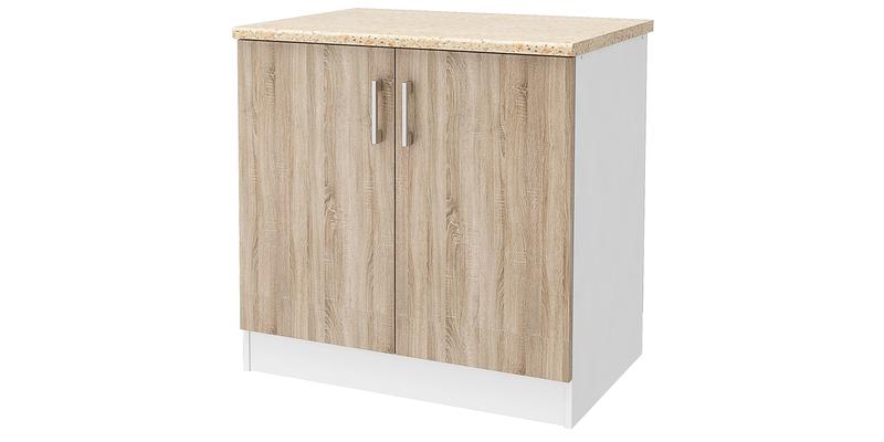 Кухонный напольный шкаф Женева 80 см (белый/дуб сонома)