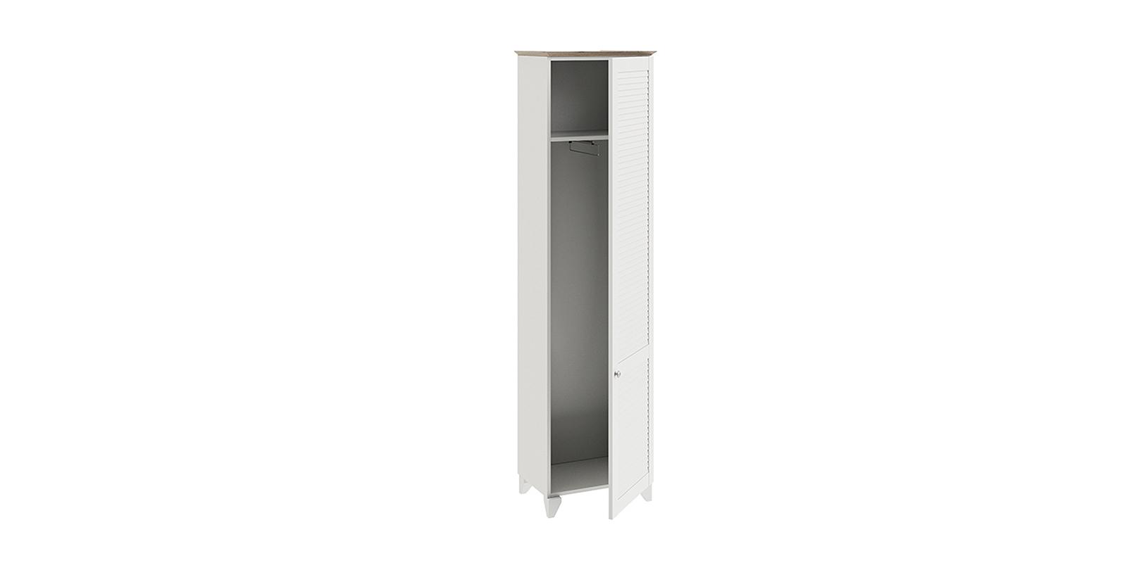 Шкаф распашной однодверный Мерида вариант №1 (дуб бежевый/белый)