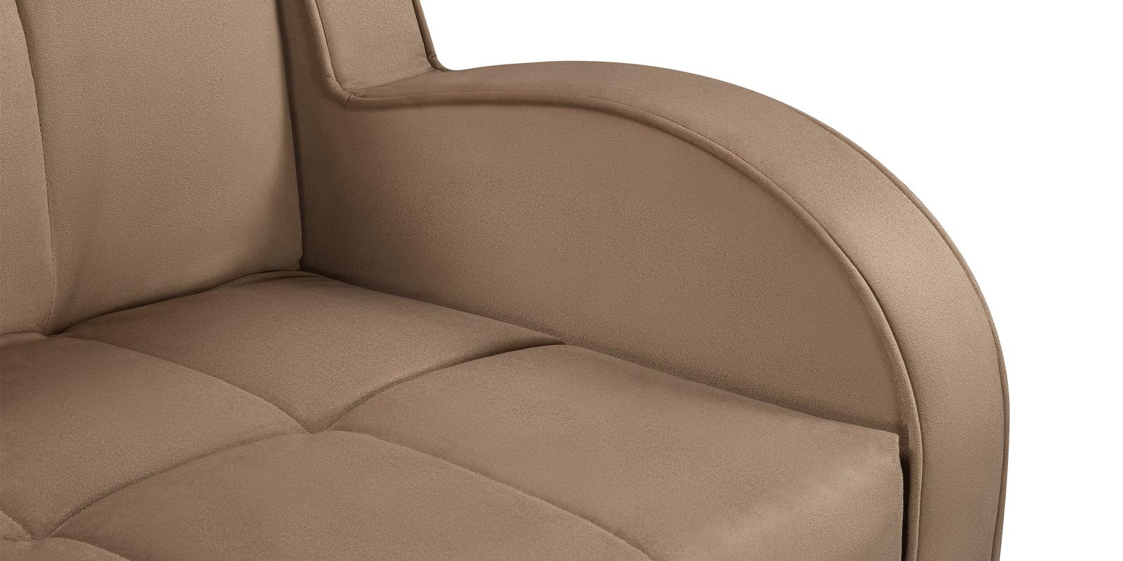 Кресло тканевое Барон Velure коричневый (Велюр) от HomeMe.ru