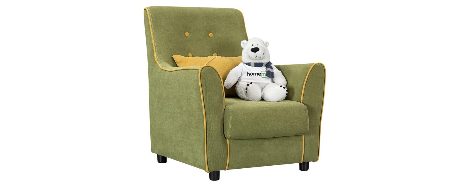 Кресло тканевое Флэтфорд Marselle фисташковый/желтый (Микровелюр) Флэтфорд