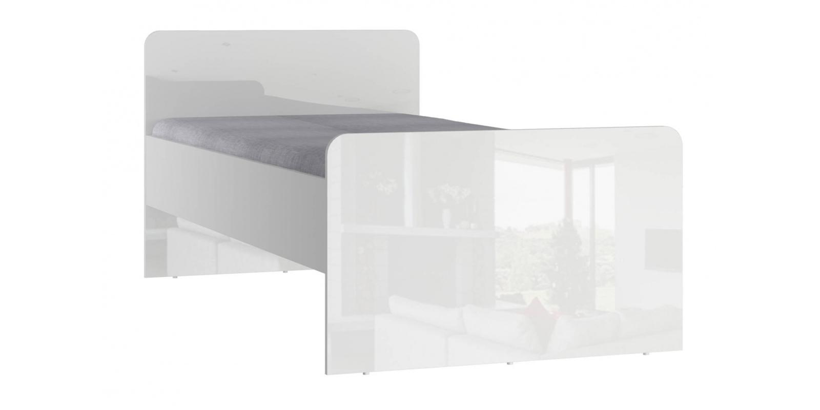 Кровать односпальная 190х90 Мелисса без подъемного механизма (белый)