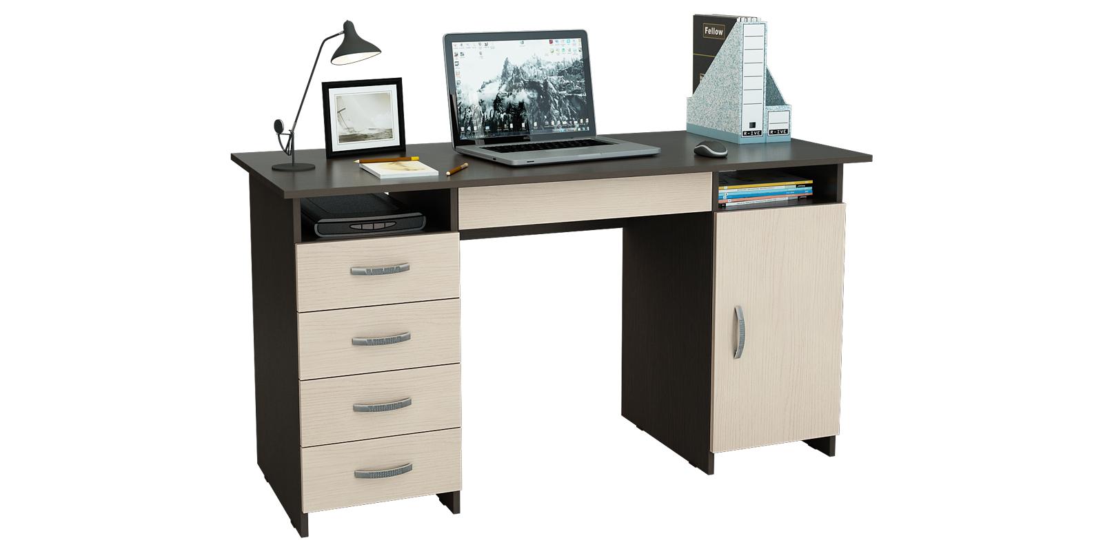Письменный стол Харви вариант №5 (венге/дуб молочный)