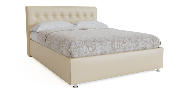 Мягкая кровать 200х120 Аделаида с подъемным механизмом (Крем-брюле)