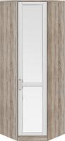 Шкаф угловой с 1-ой зеркальной дверью правый «Прованс»
