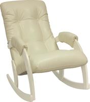 Кресло-качалка Модель 67 Дуб шампань, к/з Dundi 112