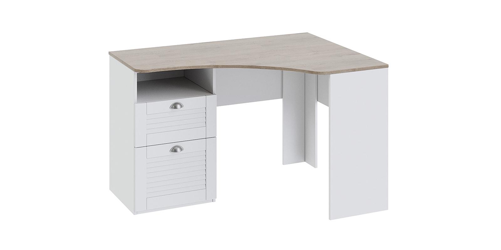 Стол письменный Мерида вариант №2 (дуб бежевый/белый)