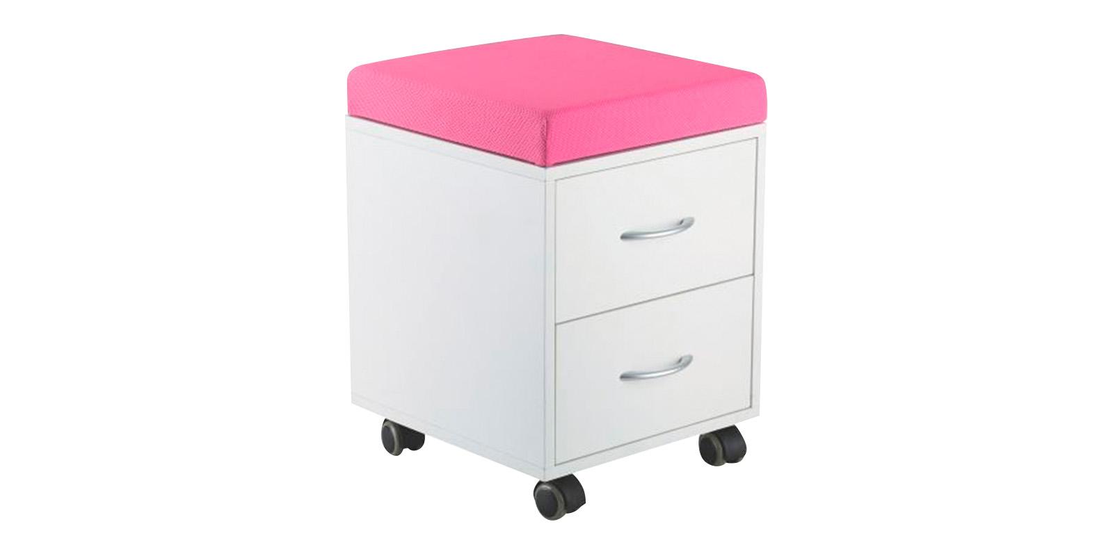 Детская тумба SS15W (белый/розовый) SS15W