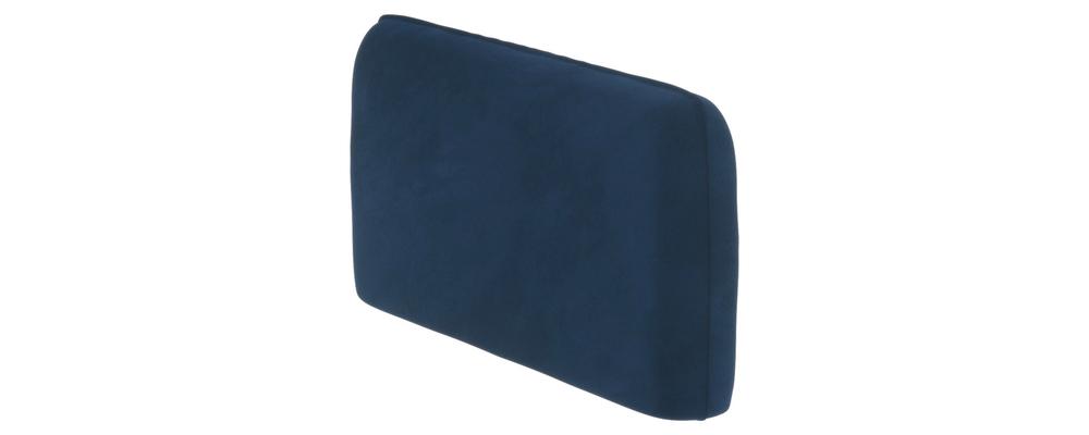 Подлокотник Портленд 128 см Soft тёмно-синий (Вел-флок, левый)