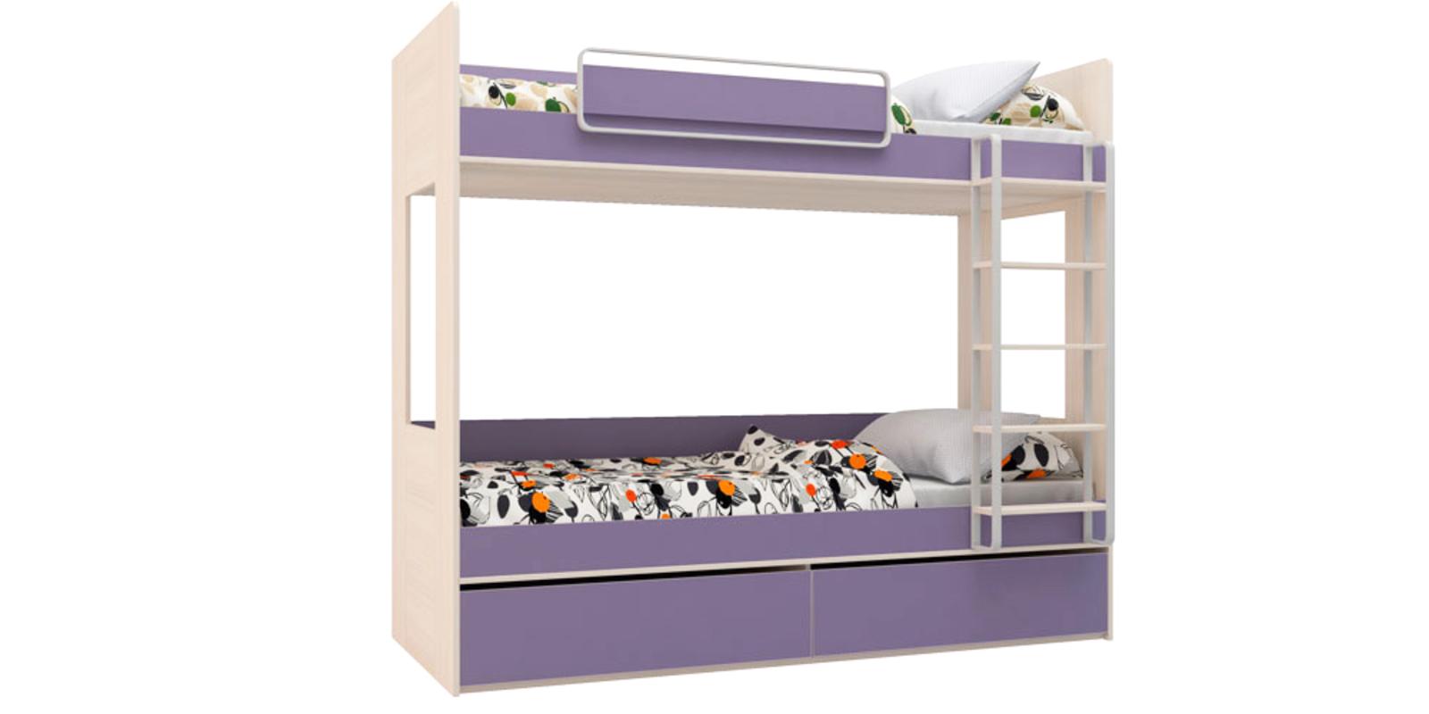Кровать двухъярусная Салоу без подъемного механизма (каттхилт/лаванда)