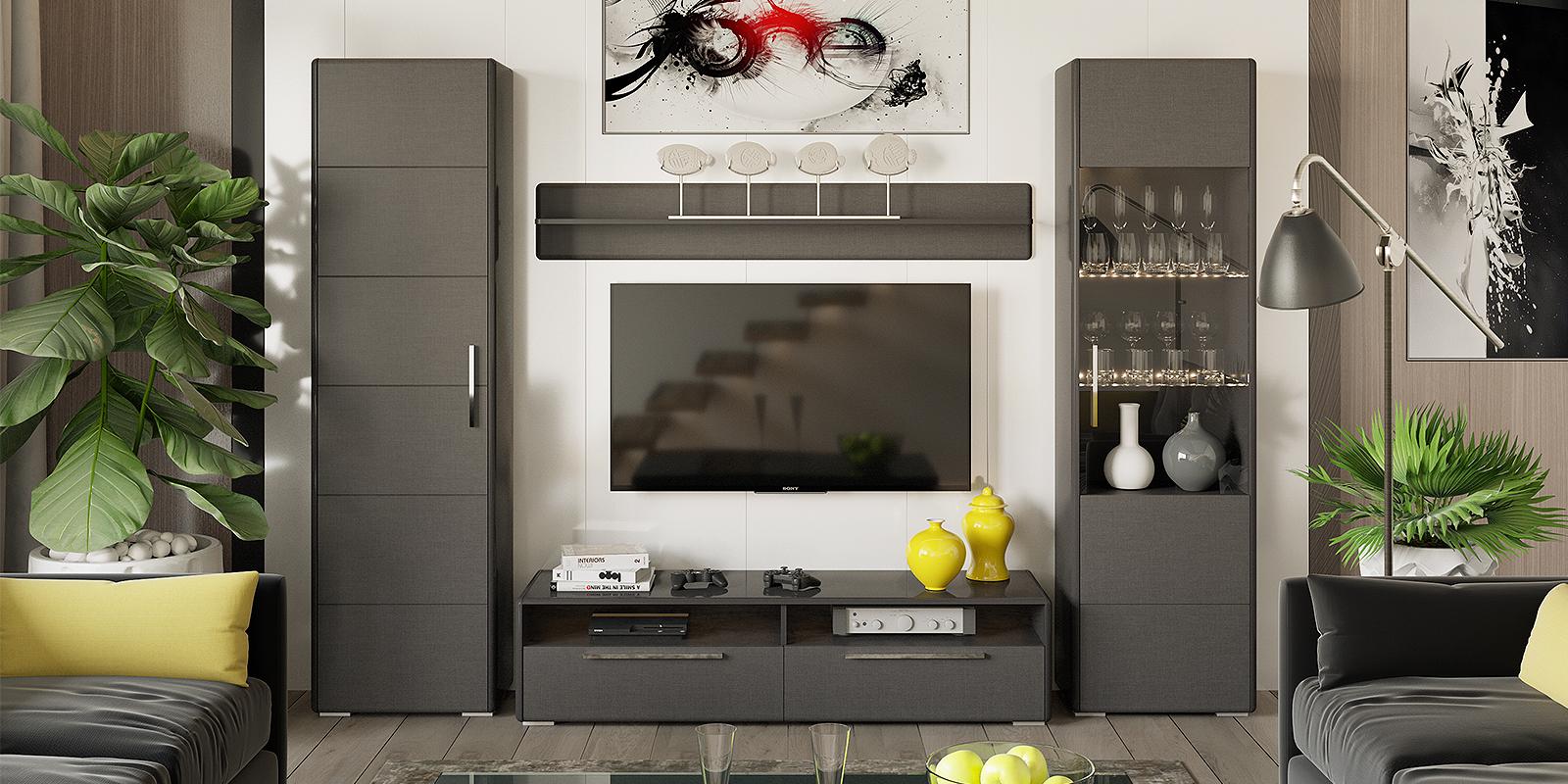 Модульная система Сорренто вариант №7 (серый/коричневый) от HomeMe.ru