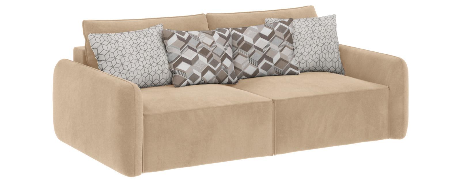 Модульный диван Портленд вариант №7 Soft песочный (Вел-флок)