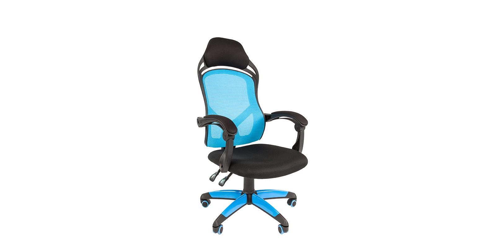Игровое кресло Chairman game 12 (черный/голубой)