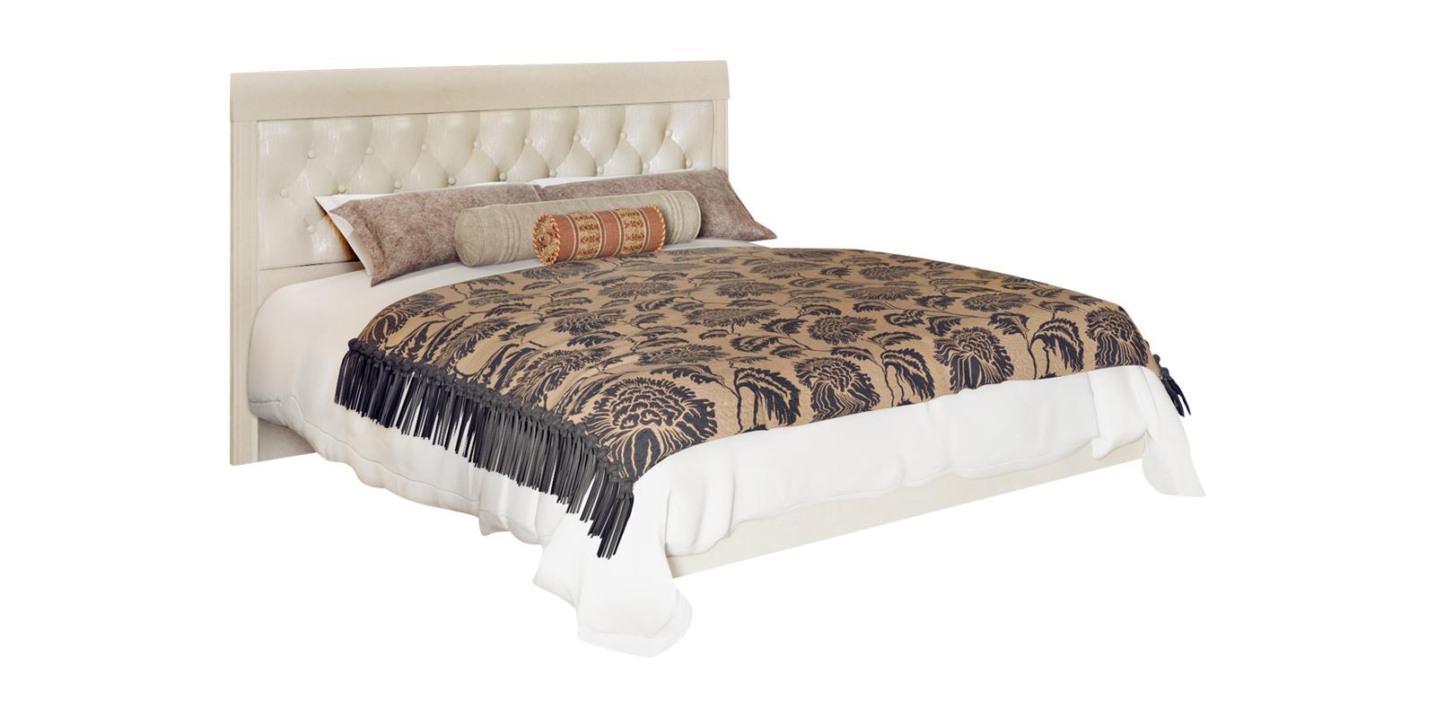 Кровать каркасная 200х160 Лацио без подъемного механизма (бежевый)