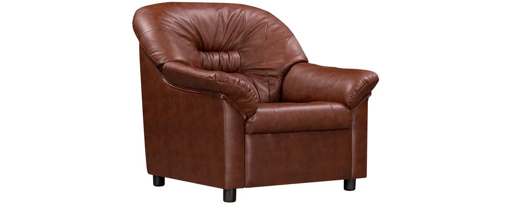 Кресло кожаное Честер Коричневый (Натуральная кожа)