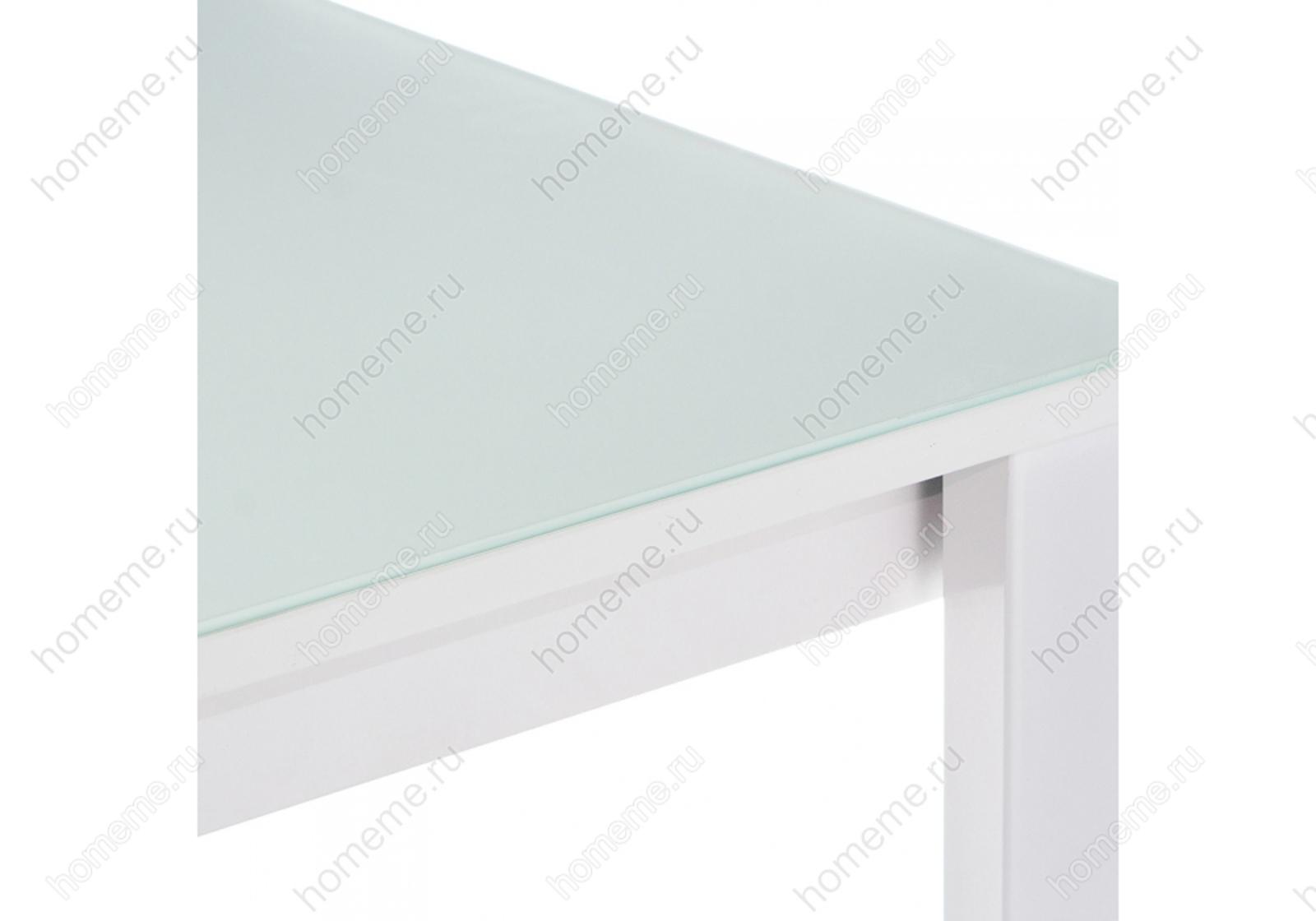 Стол стеклянный Ноэль 100 раздвижной  белый 302729 Ноэль 100 раздвижной  белый 302729 (15322)