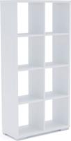 Стеллаж Стильный С-4/72*30*143/Белый/Белый