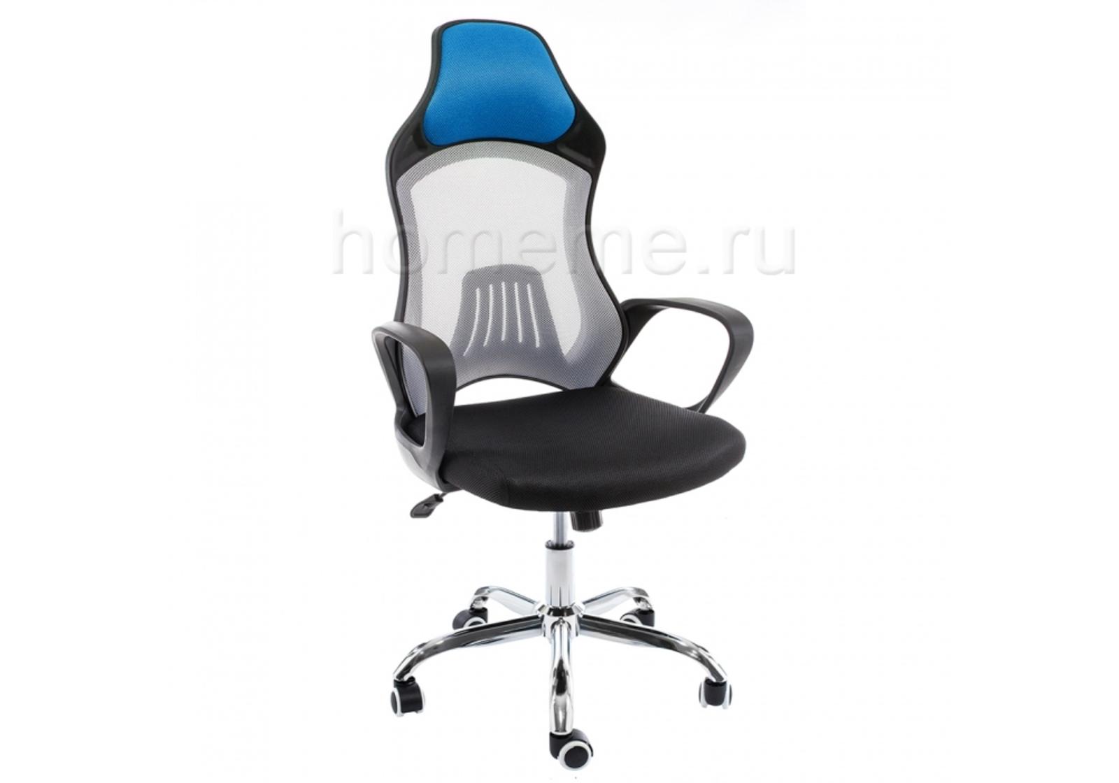 Кресло для офиса HomeMe Atlant белое / черное / голубое 1974 от Homeme.ru
