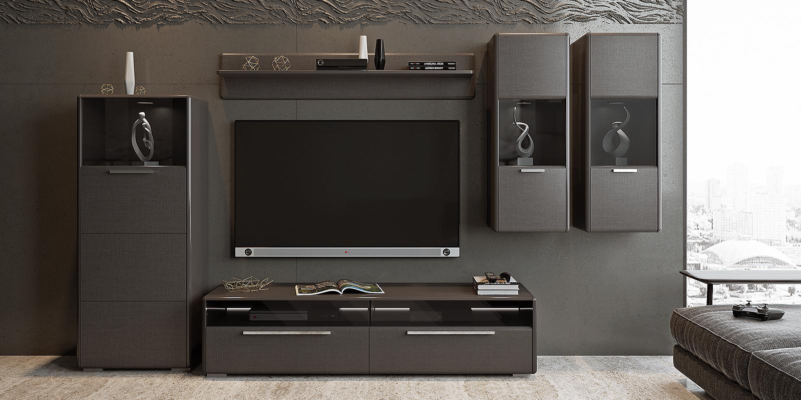 Модульная система Сорренто вариант №5 (серый/коричневый) от HomeMe.ru