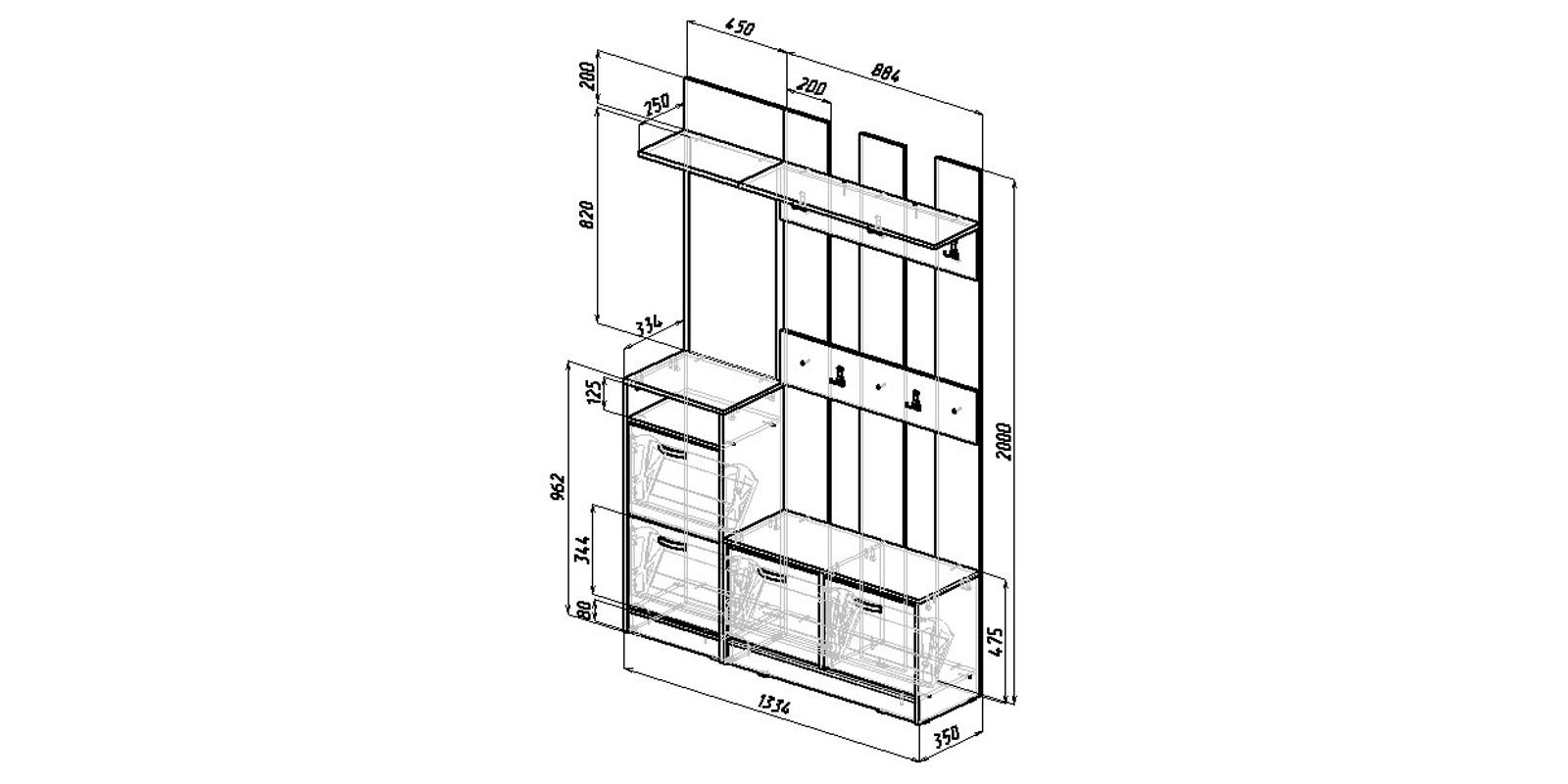 Модульная система Хельга вариант №2 (венге)