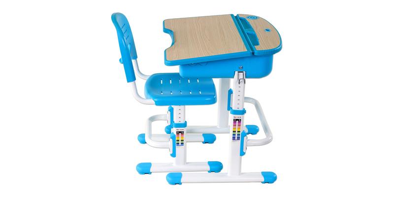 Детская парта Capri комплект парта + стул (белый/голубой)