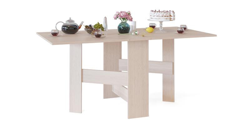 Обеденный стол Краков стол-книжка (беленый дуб)