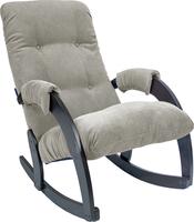 Кресло-качалка Модель 67 Венге, ткань Verona Light Grey