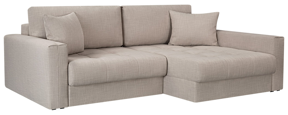 Модульный диван Брайтон вариант №2 Nobilia бежевый (Рогожка)